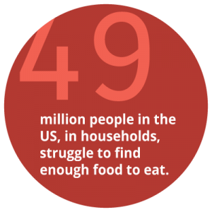 49 million people in the US struggle to find enough food to eat
